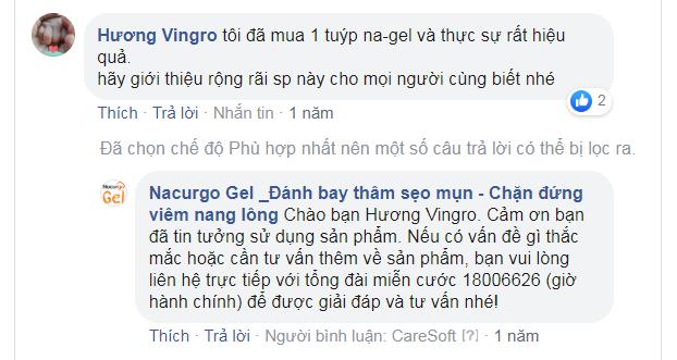 Nacurgo gel review của Hương Vingro