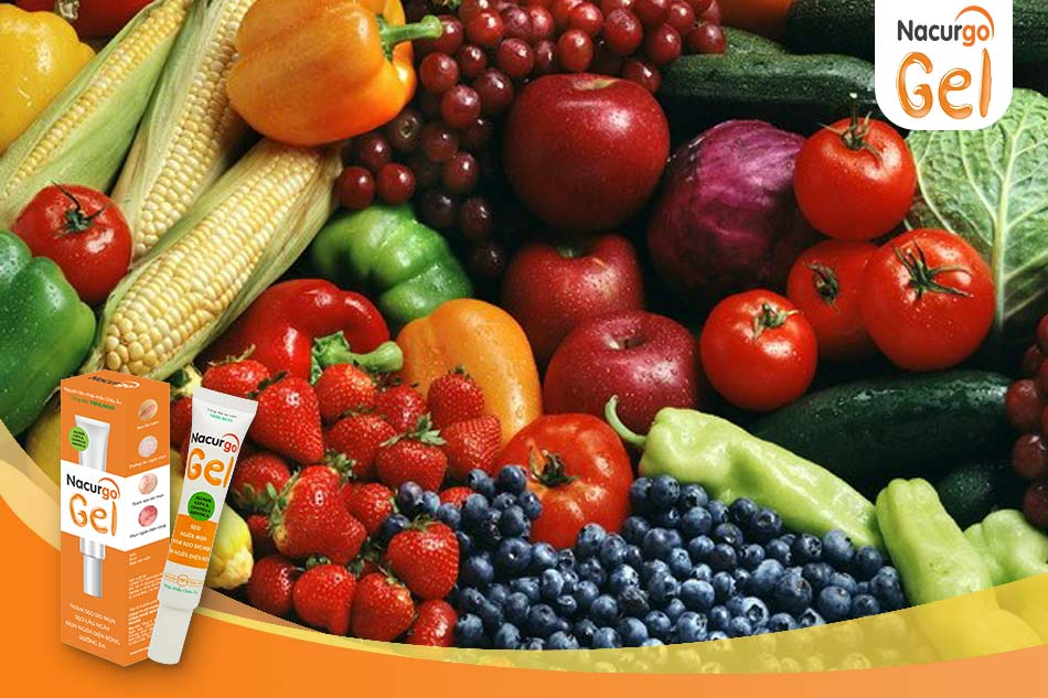 Rau xanh và trái cây - tốt cho người bị mụn