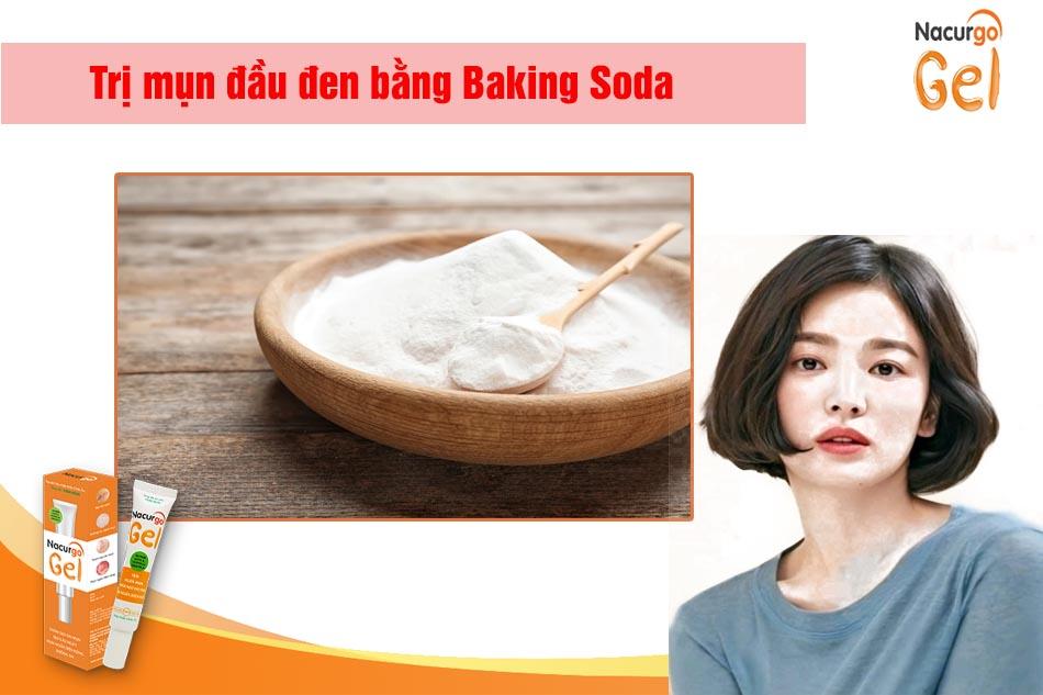 Trị mụn đầu đen bằng baking soda