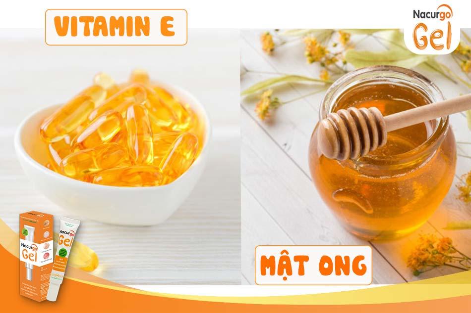 Trị sẹo rỗ, sẹo lõm với vitamin E và mật ong