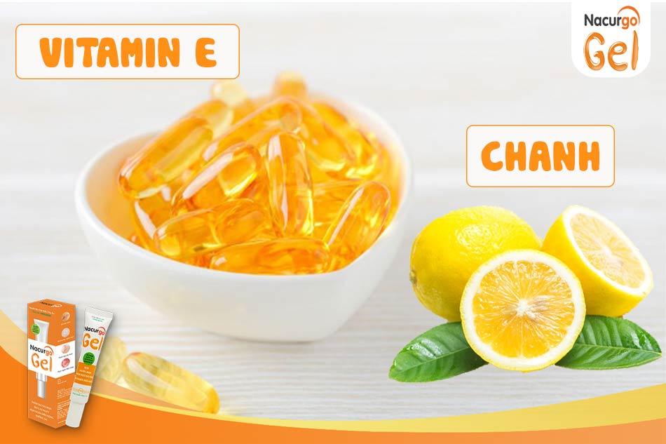 Trị sẹo rỗ, sẹo lõm bằng vitamin E và chanh
