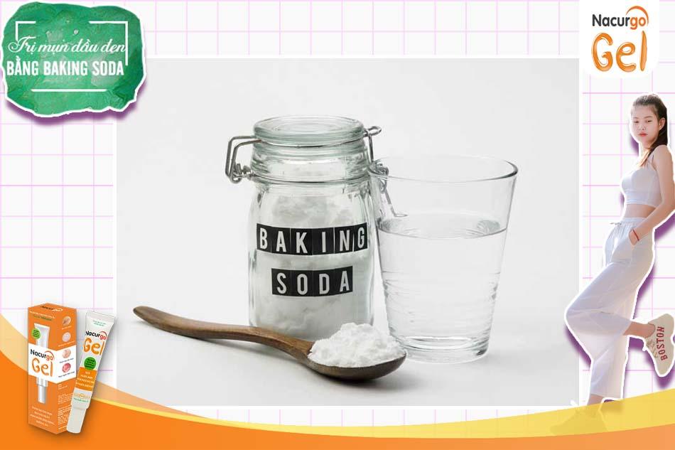 Backing Soda pha với nước ấm là cách làm đơn giản nhất