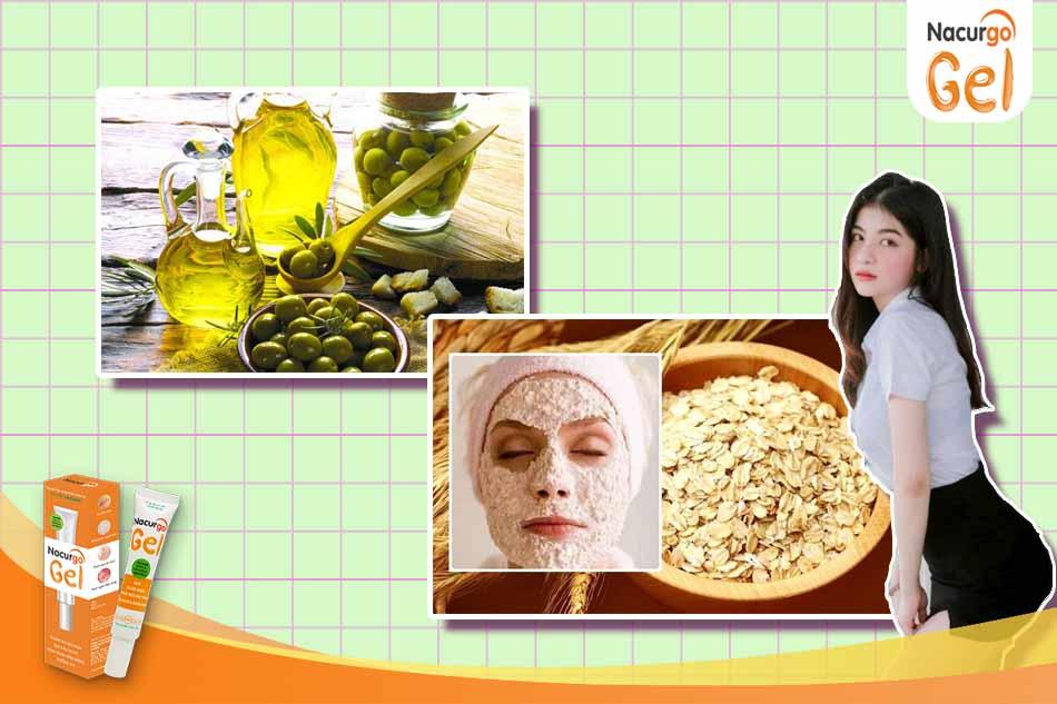 Dầu oliu và bột yến mạch giúp đánh bay mụn đầu đen, làm sạch da