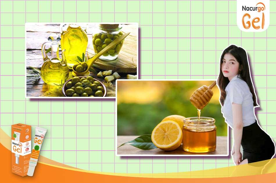 Mật ong kết hợp cùng với dầu oliu là phương pháp trị mụn đầu đen hiệu quả