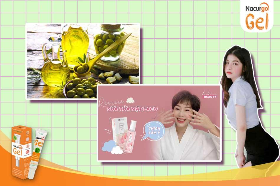 Kết hợp dầu oliu và sữa rửa mặt được nhiều chị em tin tưởng sử dụng