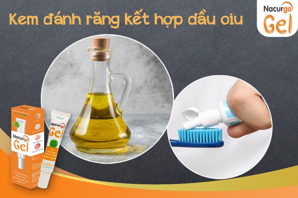 Kem đánh răng kết hợp dầu oliu trị mụn hiệu quả