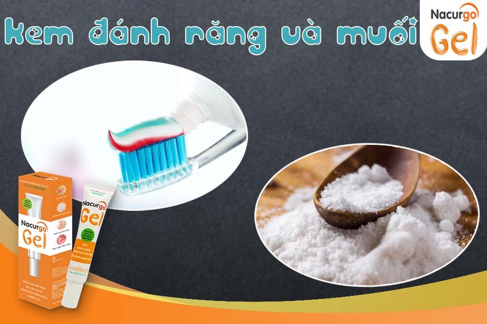 Kem đánh răng và muối trị mụn đầu đen hiệu quả