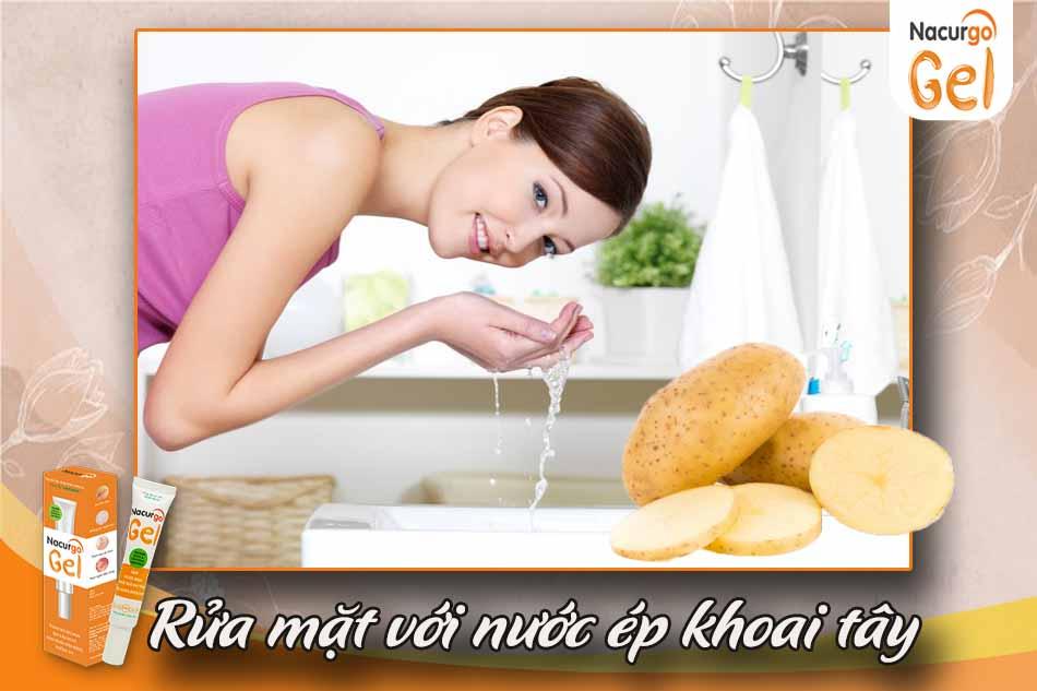 Rửa mặt với nước ép khoai tây