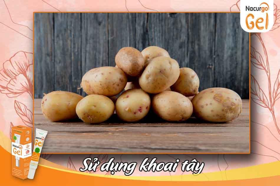 Sử dụng khoai tây trị mụn đầu đen