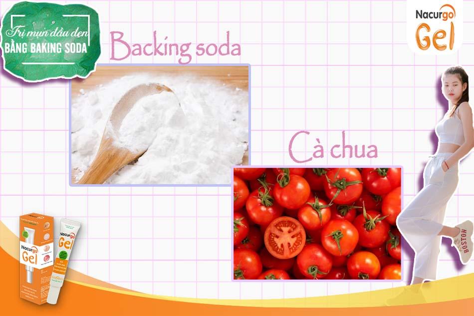 Cà chua kết hợp với Backing Soda cũng là phương án được nhiều người sử dụng