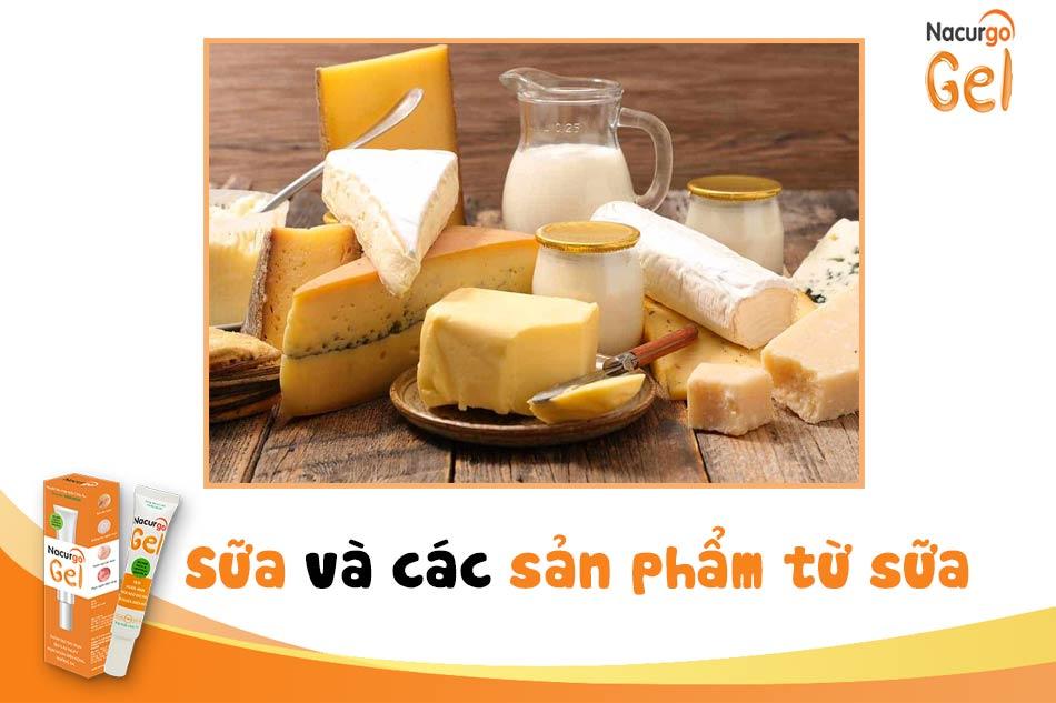 Sữa và các sản phẩm làm từ sữa