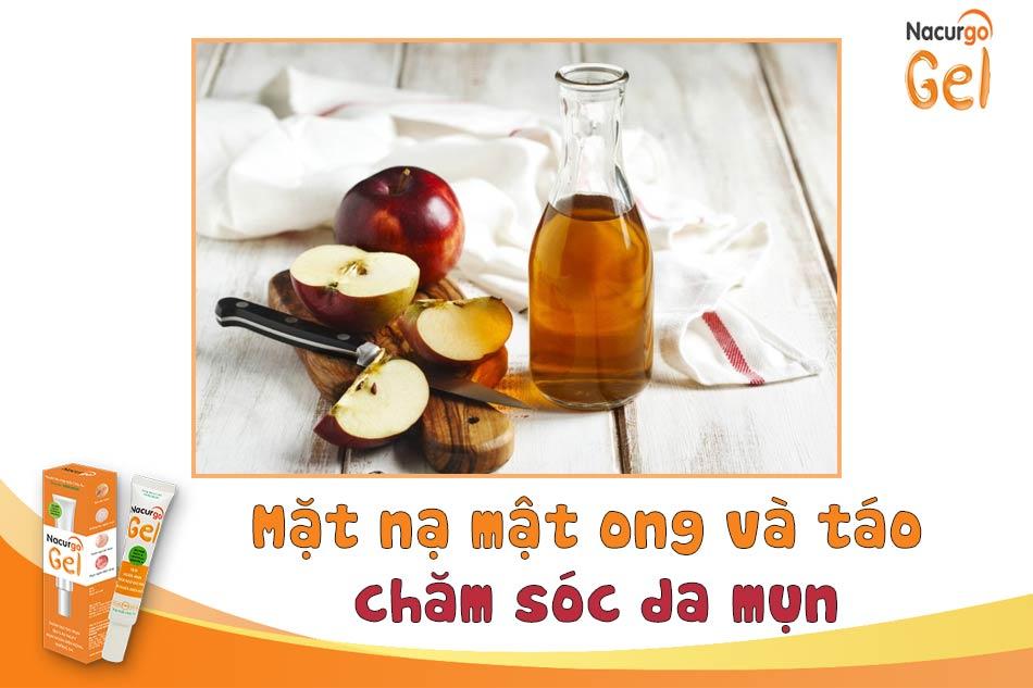 Chăm sóc da mụn bằng mặt nạ mật ong và táo