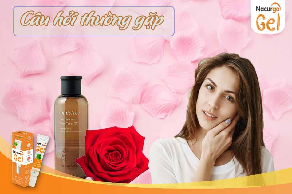 Các câu hỏi thường gặp khi dùng nước hoa hồng để trị mụn đầu đen