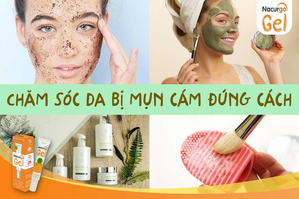 Chăm sóc da bị mụn cám như nào là đúng?