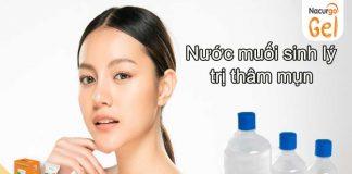 Nước muối sinh lý trị thâm mụn