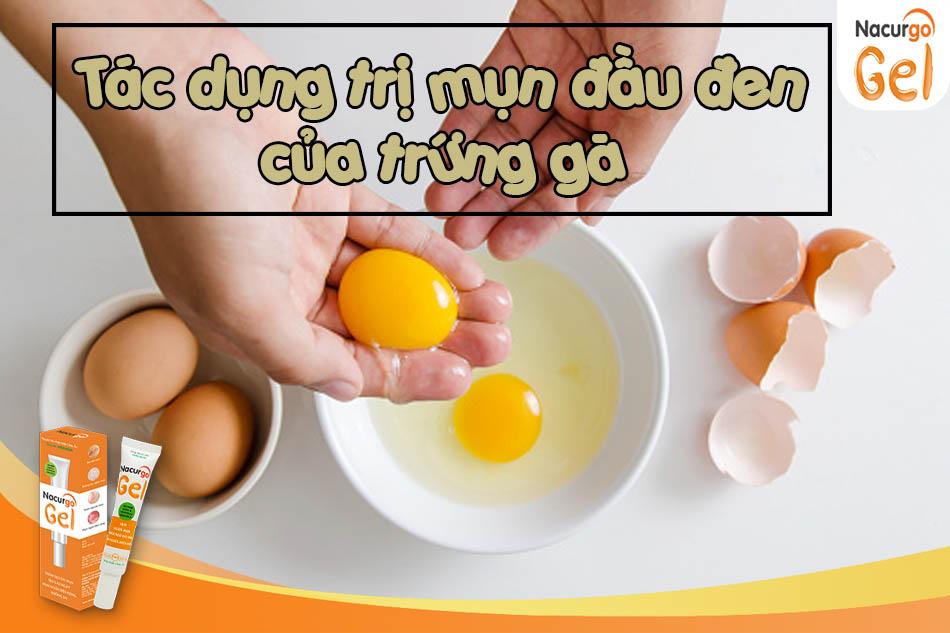 Tác dụng trị thâm mụn của trứng gà