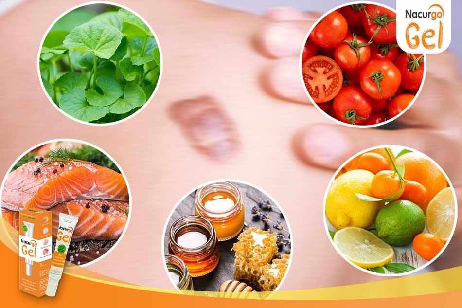 Một số thực phẩm khuyên dùng giúp làm đầy sẹo lõm