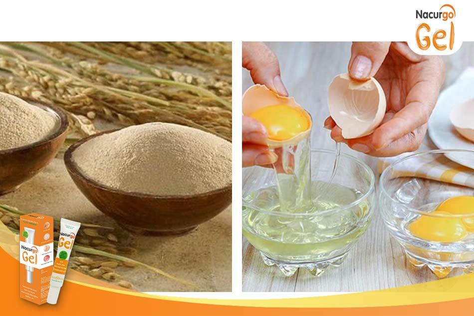 Cách trị mụn cám bằng mặt nạ cám gạo và lòng trắng trứng