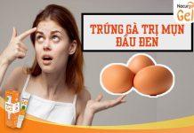 Trị mụn đầu đen bằng trứng gà