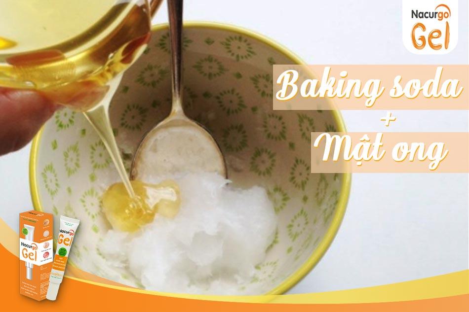 Hỗn hợp Baking soda và mật ong trị sẹo
