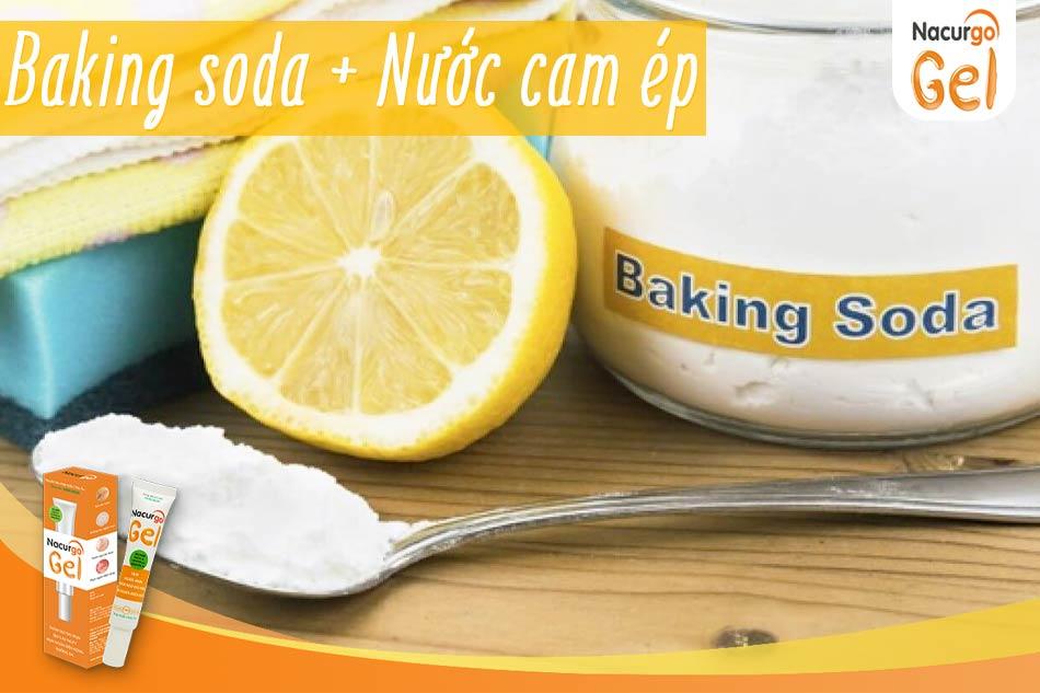 Công thức trị sẹo bằng Baking soda và nước cam ép