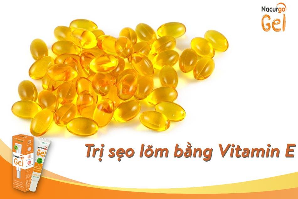 Trị sẹo lõm bằng Vitamin E