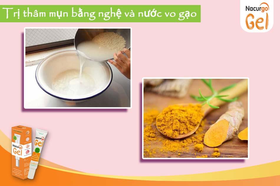 Mặt nạ tinh bột nghệ và nước vo gạo