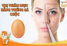 Trị thâm mụn bằng trứng gà luộc