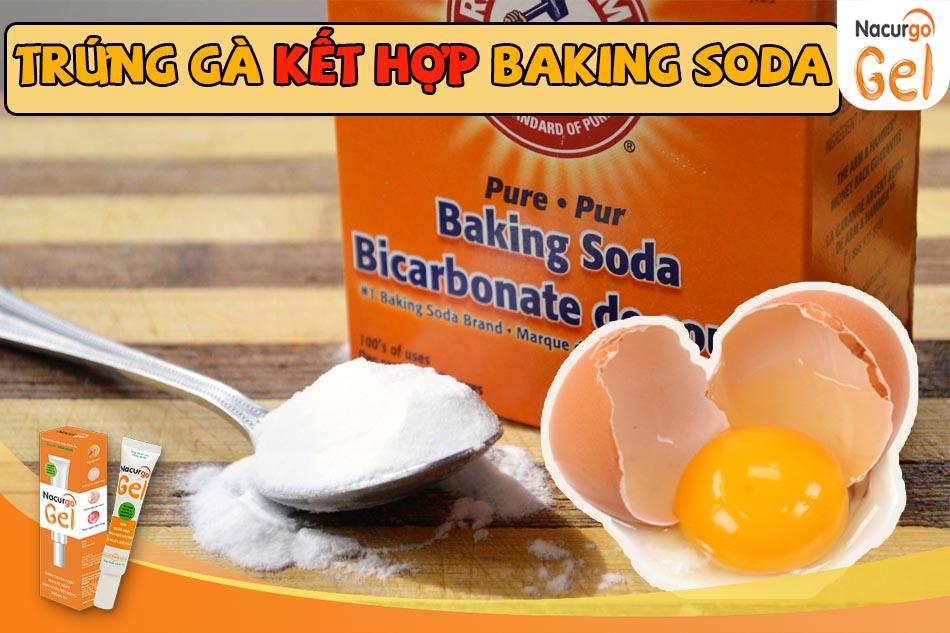 Hướng dẫn trị mụn đầu đen bằng trứng gà và baking soda