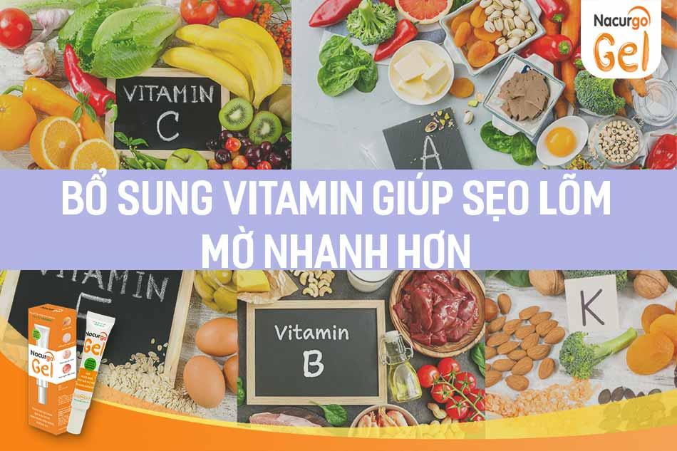 Vitamin giúp sẹo lõm mờ nhanh hơn